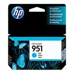 CARTUCHO HP 951 AZUL CN050AB 8,5ML*