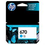 CARTUCHO HP 670 AZUL CZ114AB 3,5ML*